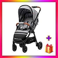Детская прогулочная коляска CARRELLO Eclipse CRL-12001 + дождевик светло-серый цвет. Дитячий візок