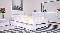 Кровать деревянная Симфония из натурального дерева односпальная