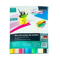 Картон цветной CRELANDO А4, 270 г/м2, 25 листов