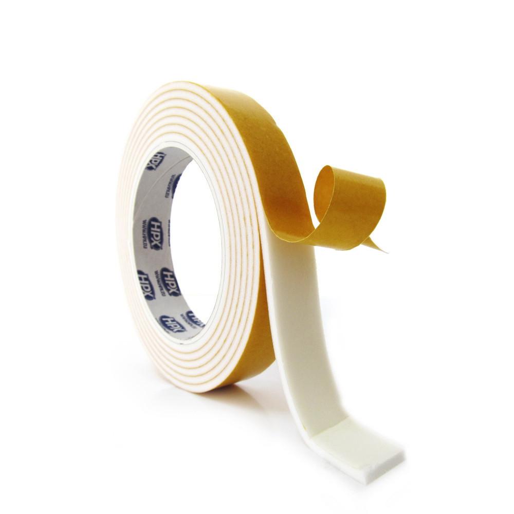 Скотч HPX HSA, белый, 6 мм х 3.0 мм х 25 м