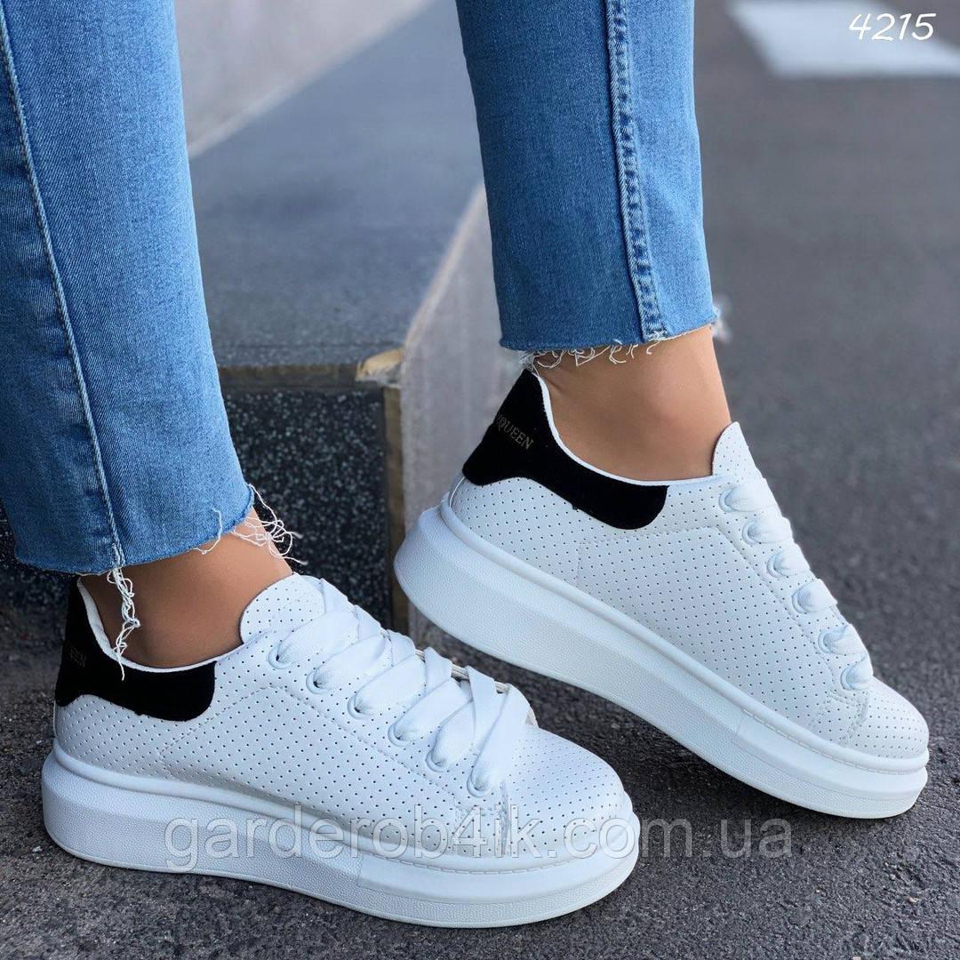 Женские кроссовки криперы с черной пяточкой