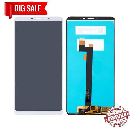 Модуль (сенсор + дисплей) для Xiaomi MI Max 3 белый, фото 2