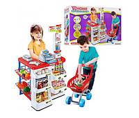 Детский супермаркет/магазинчик 668-01-03 с кассой, тележкой и сканером KK