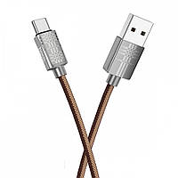 Кабель Hoco U61 Treasure USB Type-C 1.2 м Brown MB642h, КОД: 1346124
