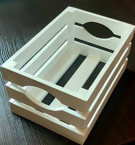 Декоративный деревянный ящик 20 см на 20 см, фото 2