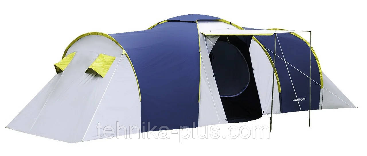 Палатка туристическая presto nadir 8 синяя, клеенные швы, 3500 мм