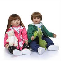 Велика лялька реборн 60 см..Двійнята реборн Reborn doll.Арт.04883, фото 1
