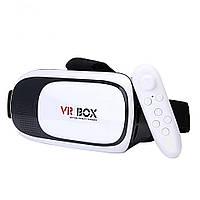 Очки виртуальной реальности VR BOX + пульт 100302, КОД: 298873