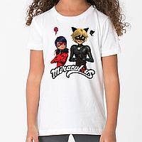 Футболка Леди Баг и Супер Кот. Модная футболка для детей.