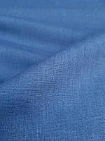 Льняная легкая ткань синего цвета, фото 1