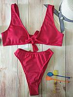Раздельный купальник L Красный 002722, КОД: 365379