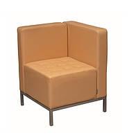 Офисный одноместный диван Премьера Урбан Угол 650х650х770 мм Темно-бежевый huboadom6, КОД: 1816974