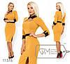 Сукня жіноча приталеного крою з вирізом на какетке гірчична (3 кольори) SD/-4629