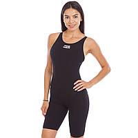 Купальник с шортами для плавания женский слитный Mad Wave BODYSHELL Полиамид Черный (СПО M026202) S (44)