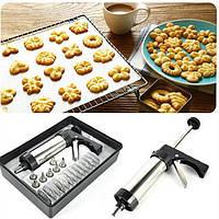 Кондитерский шприц-пресс для печенья 13 насадок, 8 сопел Cookie Set and Icing Set