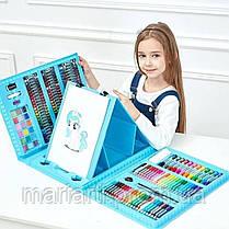 Набор художника для творчества 208 предметов, розовый и голубой, фото 3