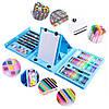 Набор художника для творчества 208 предметов, розовый и голубой, фото 6