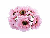 Маки розовые 4,5 см Декоративный букетик 3 шт/уп