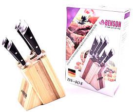 Набор ножей Benson из нержавеющей стали на деревянной подставке Benson BN 404, фото 2