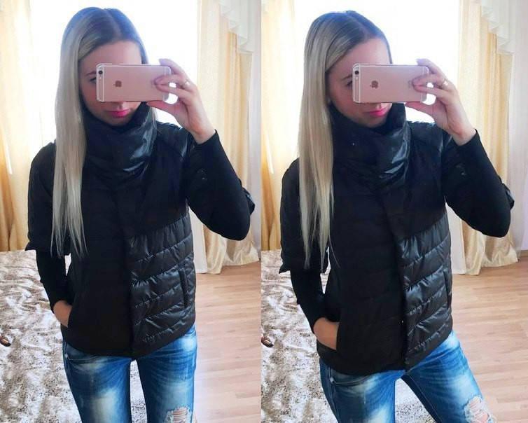 Стеганная курточка с укороченным рукавом