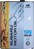 Моторное масло Subaru Synthetic Motor Oil 0W-20 4л