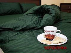 Двуспальный набор постельного белья 180*220 из Страйп Сатина №545918 KRISPOL™