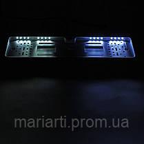 Камера заднего вида в авто номерной рамке с 16 LED подсветкой Black, фото 2