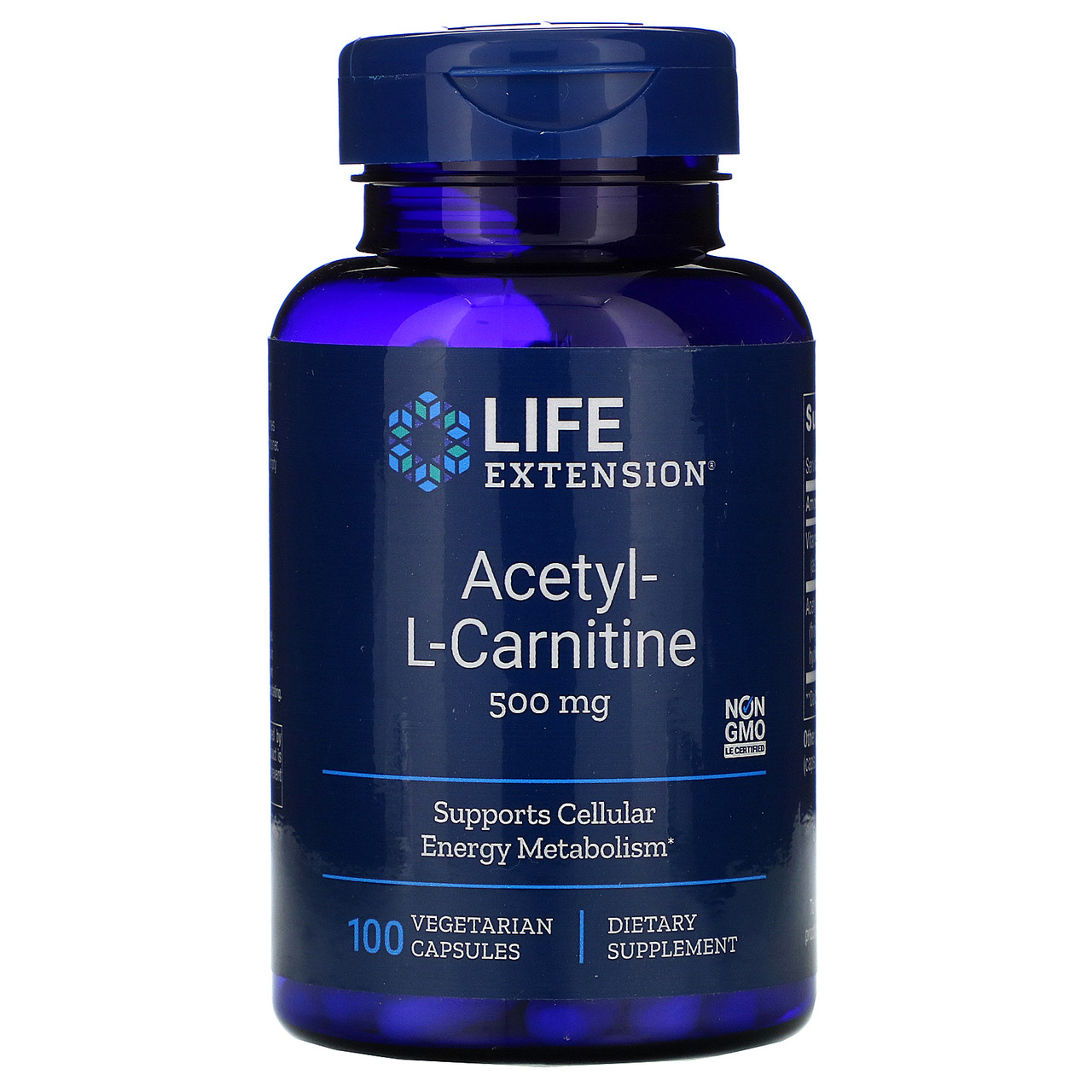 """Ацетил L-карнитин Life Extension """"Acetyl-L-Carnitine"""" 500 мг (100 капсул)"""