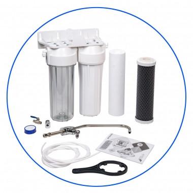 Aquafilter FP2-W-K1 Фильтр для воды, 2 ступени фильтрации
