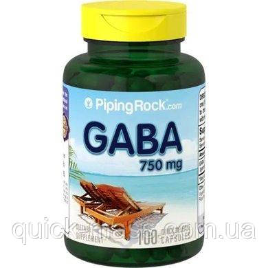 GABA 750mg 100caps Piping rock