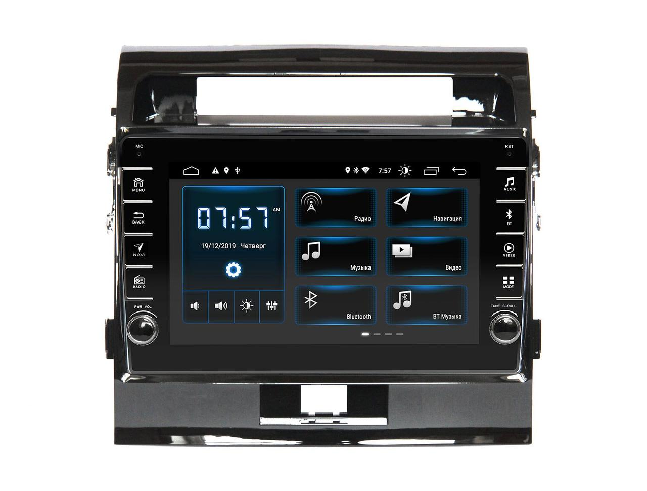 Штатная автомагнитола Incar XTA-0303RE для Toyota Land Cruiser 200 2007-2015 Матовая рамка, для машин без