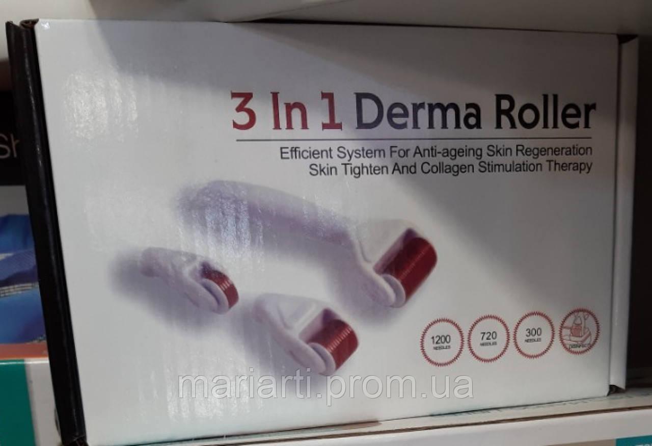 Мезороллер дермароллер на титановых иглах длиной 2,0мм с лазерной заточкой Derma Roller System 3-4в1