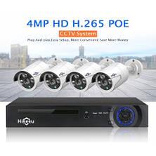 Комплект видеонаблюдения 4K POE Hiseeu POEKIT-4HB615 4 камеры 5MP и регистратор + провода и все для монтажа, фото 2