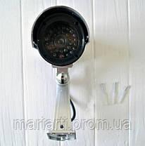 IP Камера PT-1900 муляж камеры наружного наблюдения белая, фото 3