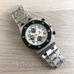 Часы наручные Audemars Piguet AA Silver-Black-White