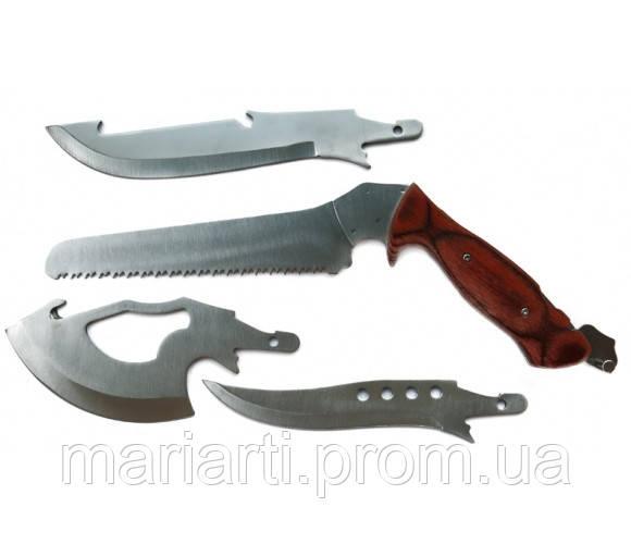 Туристический набор ножей Егерь 4 в 1 с пилой и топором