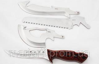 Туристический набор ножей Егерь 4 в 1 с пилой и топором, фото 3