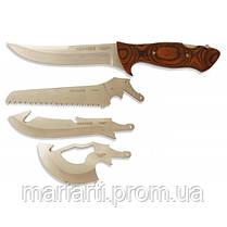 Туристический набор ножей Егерь 4 в 1 с пилой и топором, фото 2