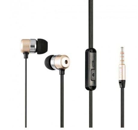 Навушники вакуумні метал. Celebrat G2 (гарнітура) gold/black+мікрофон