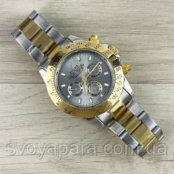 Часы женские наручные Rolex Daytona Automatic Silver-Gold-Gray