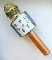 Беспроводной караоке микрофон Wster WS 858 Золотистый 70, КОД: 395846