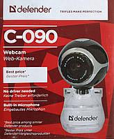 Веб камера с микрофоном Defender C-090 Black, 0,3 Mpx