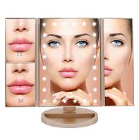 Многофункциональное Зеркало для макияжа с LED подсветкой прямоугольное тройное. Лучшая Цена!