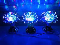 Яркая, Вращающаяся диско лампа Led full color rotating lamp светодиодная Лилия DISCO CB 0319. Лучшая Цена!