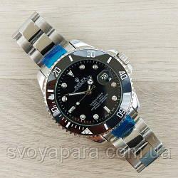 Часы наручные Rolex Submariner  Automatic AA Silver-Black