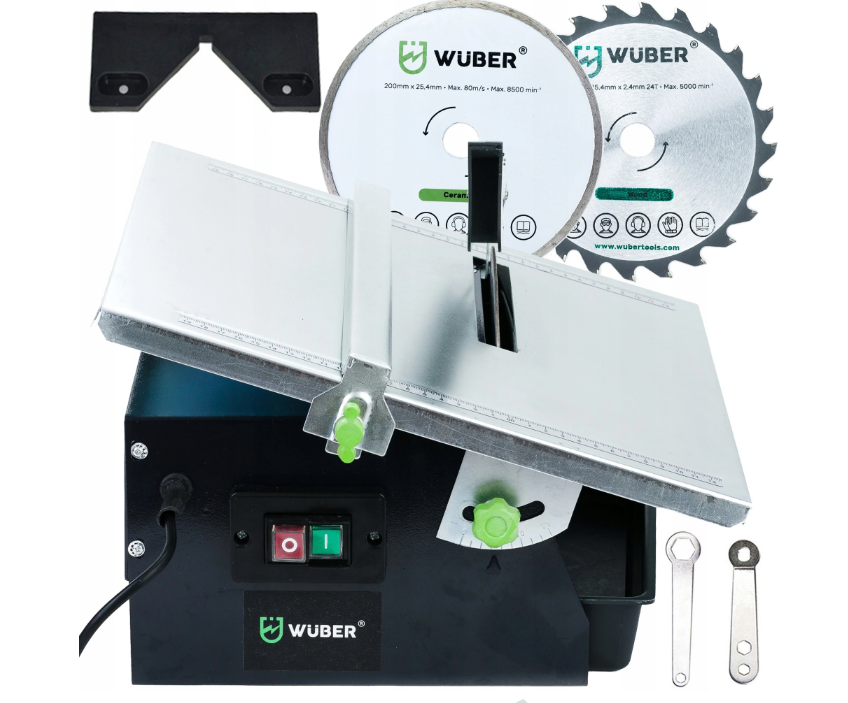 Плиткорез электрический водяной Wuber   диск + пила в комплекте