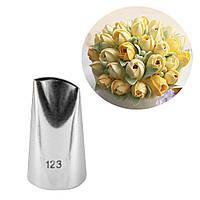 Кондитерская насадка средняя фигурная Лепесток Розы 123