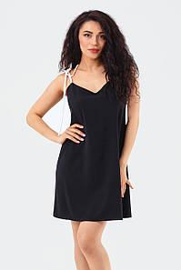 Молодежное летнее повседневное платье на завязках Lillian, черное