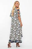 Летнее платье в пол Тропикана белое, фото 4