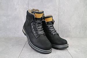 Мужские ботинки кожаные зимние черные Trike 099/M